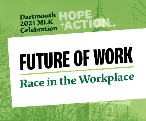 graphic with Future of work race in the workplace