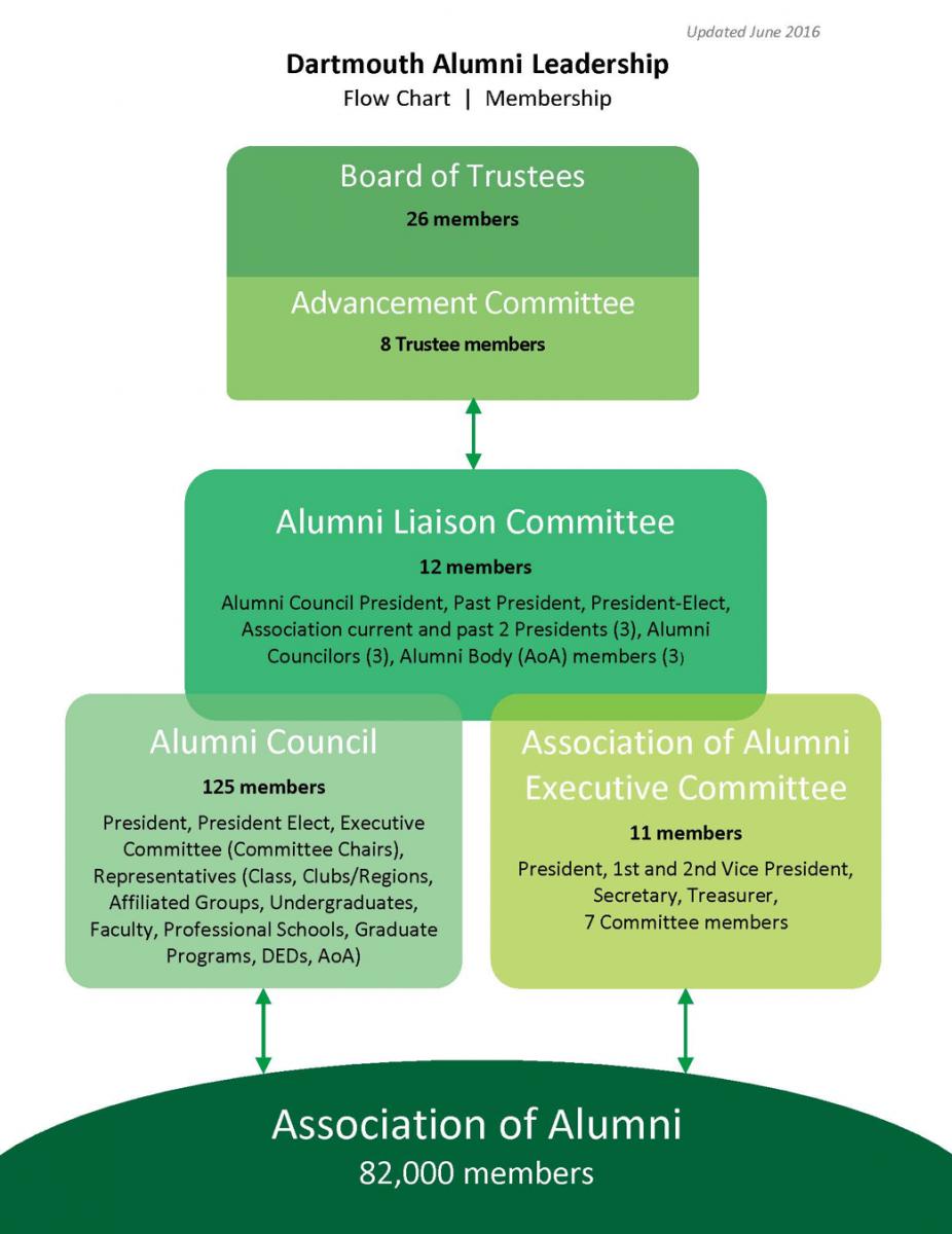 alumni leadership flow chart
