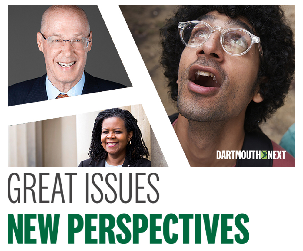 Great Issues, New Perspectives - headshots of Hank Paulson, Annette Gordon Reed, Latif Nasser