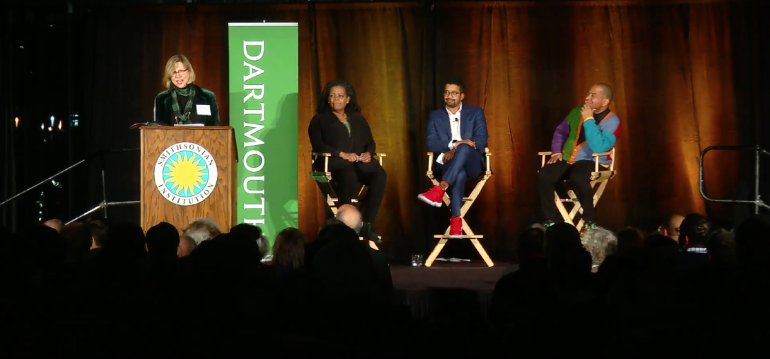 Screenshot of panelists at American Story Through the African American Lens