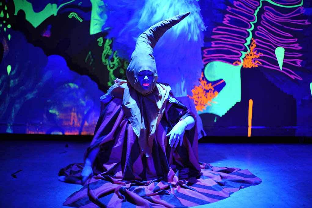 A still from Meow Wolf: Origin Story highlights the eccentric nature of the art collective.