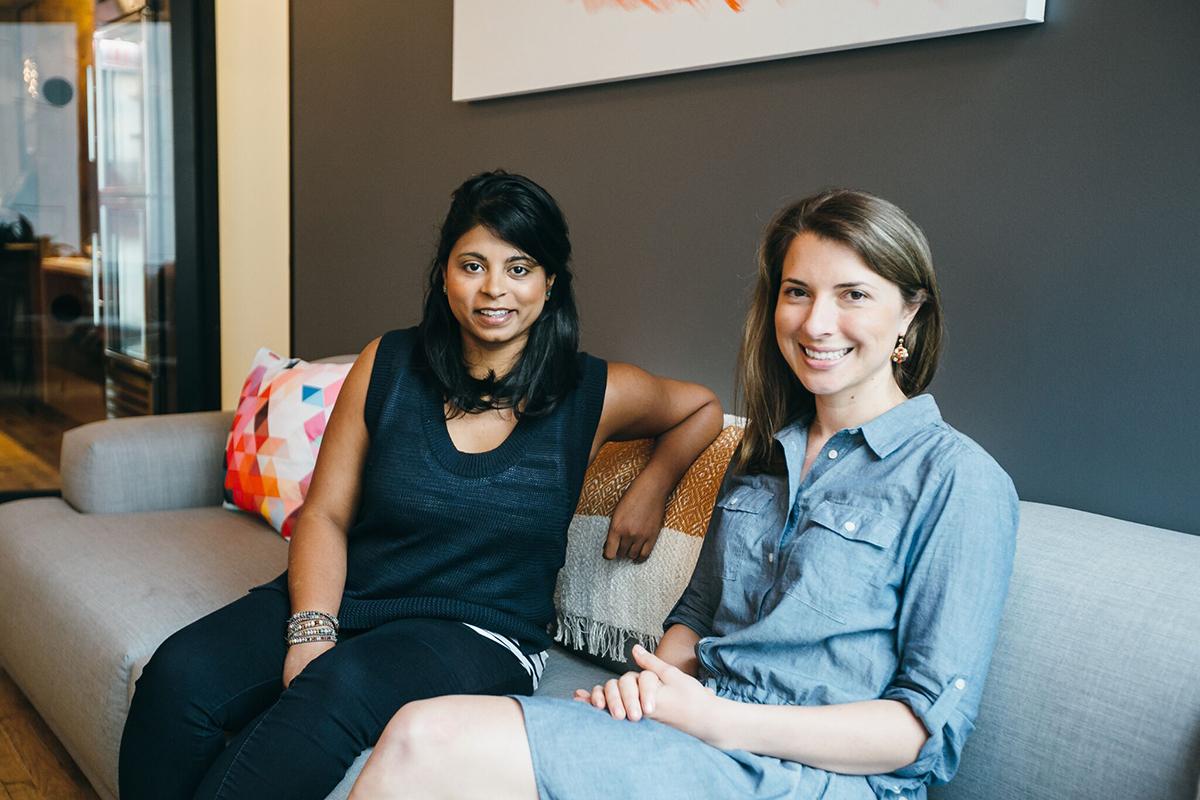 Anna Stork '08 and cofounder Andrea Sreshta