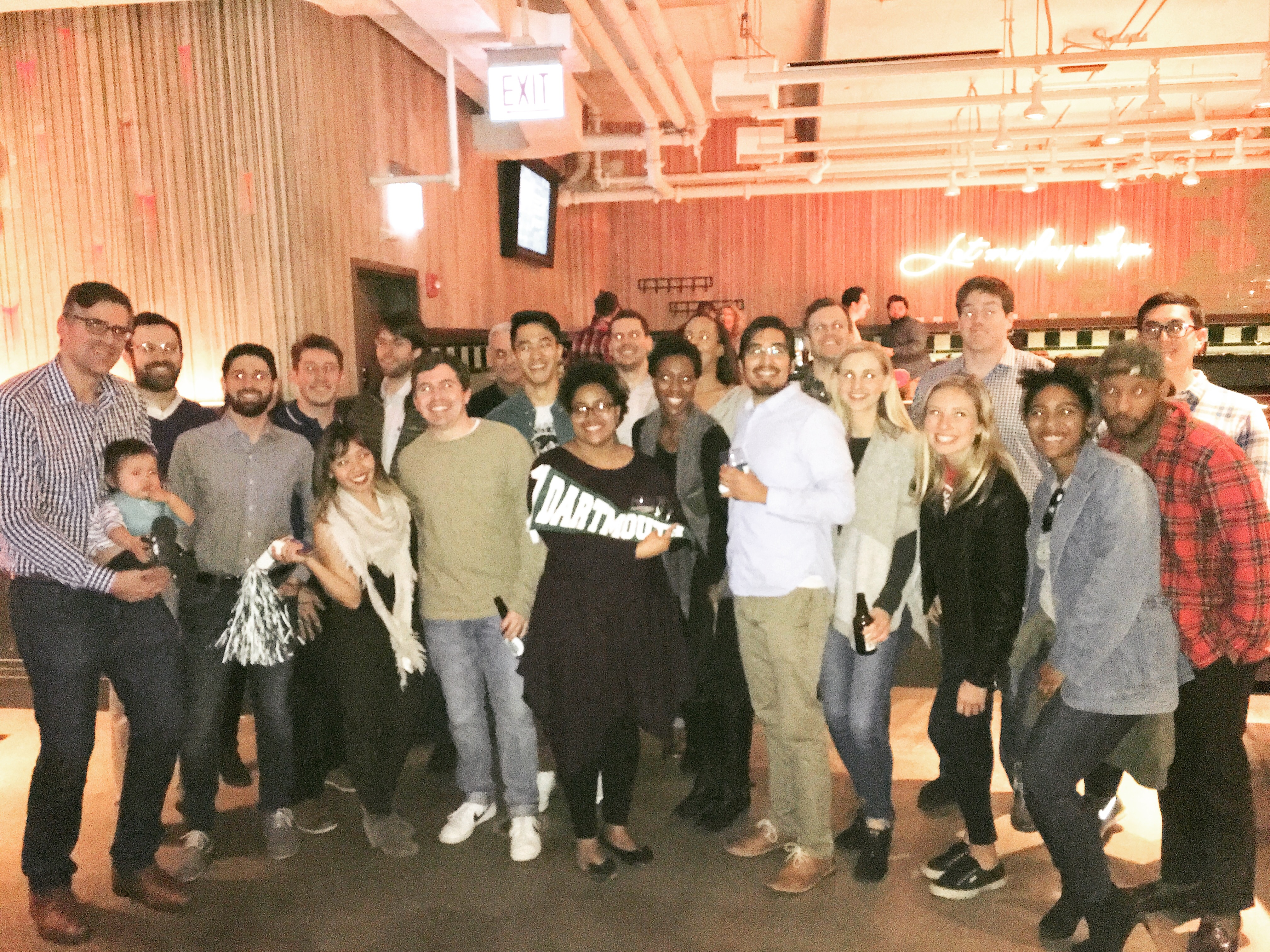 – Chicago alumni met up at AceBounce for games and appetizers
