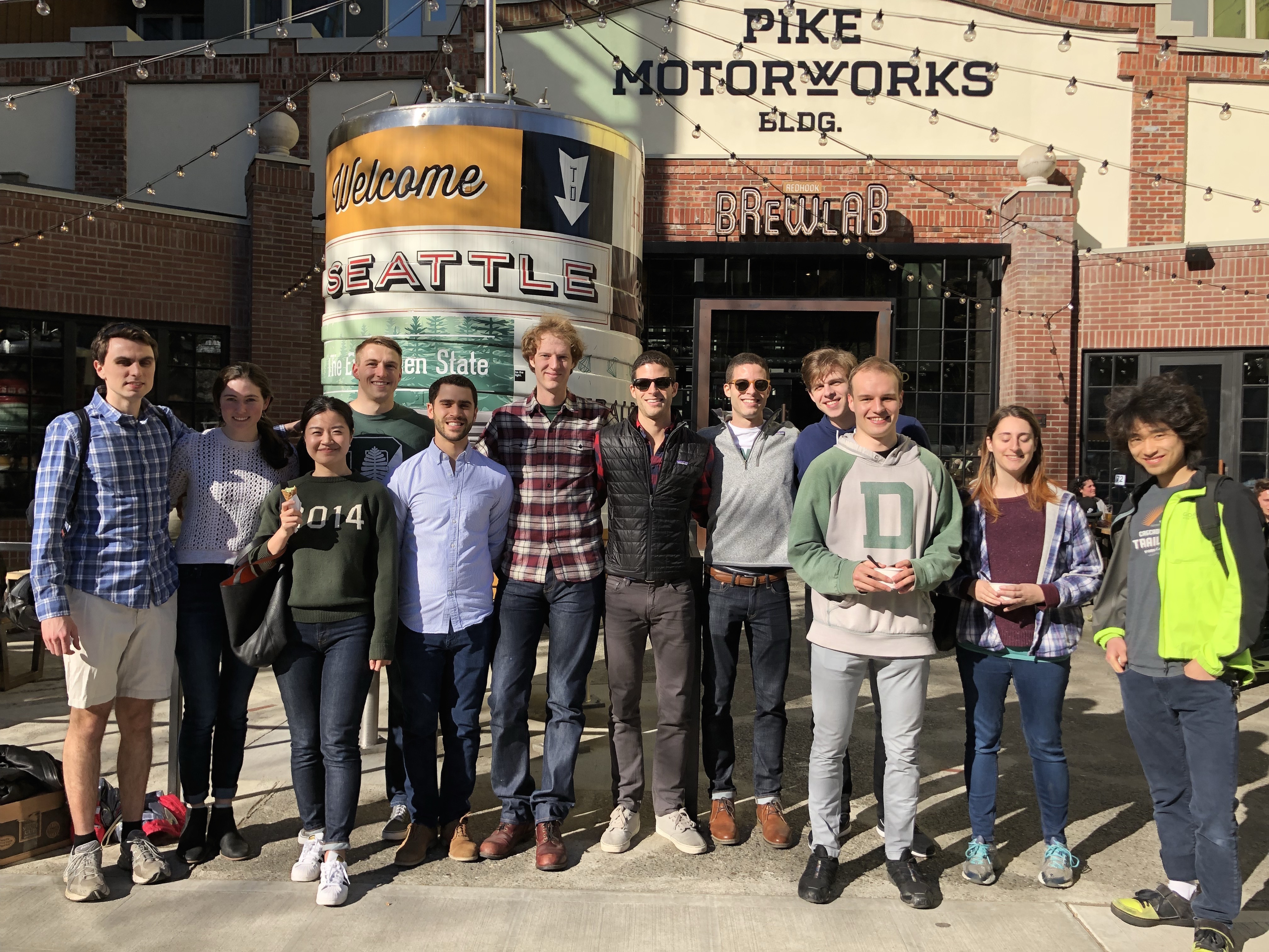 Young alumni in Seattle celebrated the Big Green Affair with an ice cream social at Salt & Straw