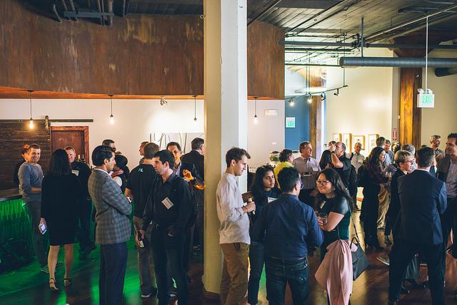 Large group of alumni gathered at the Dartmouth Entrepreneurs Forum