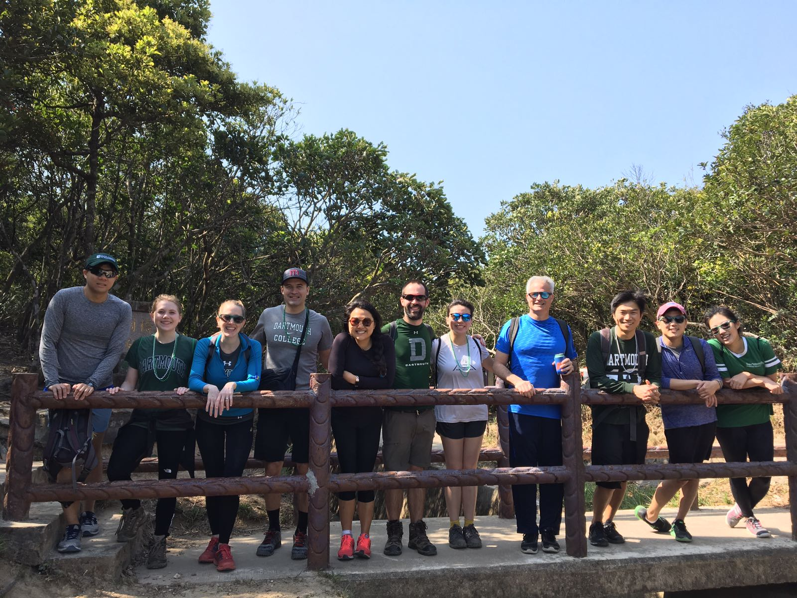 Young alumni took a hike at the Hong Kong Big Green Affair