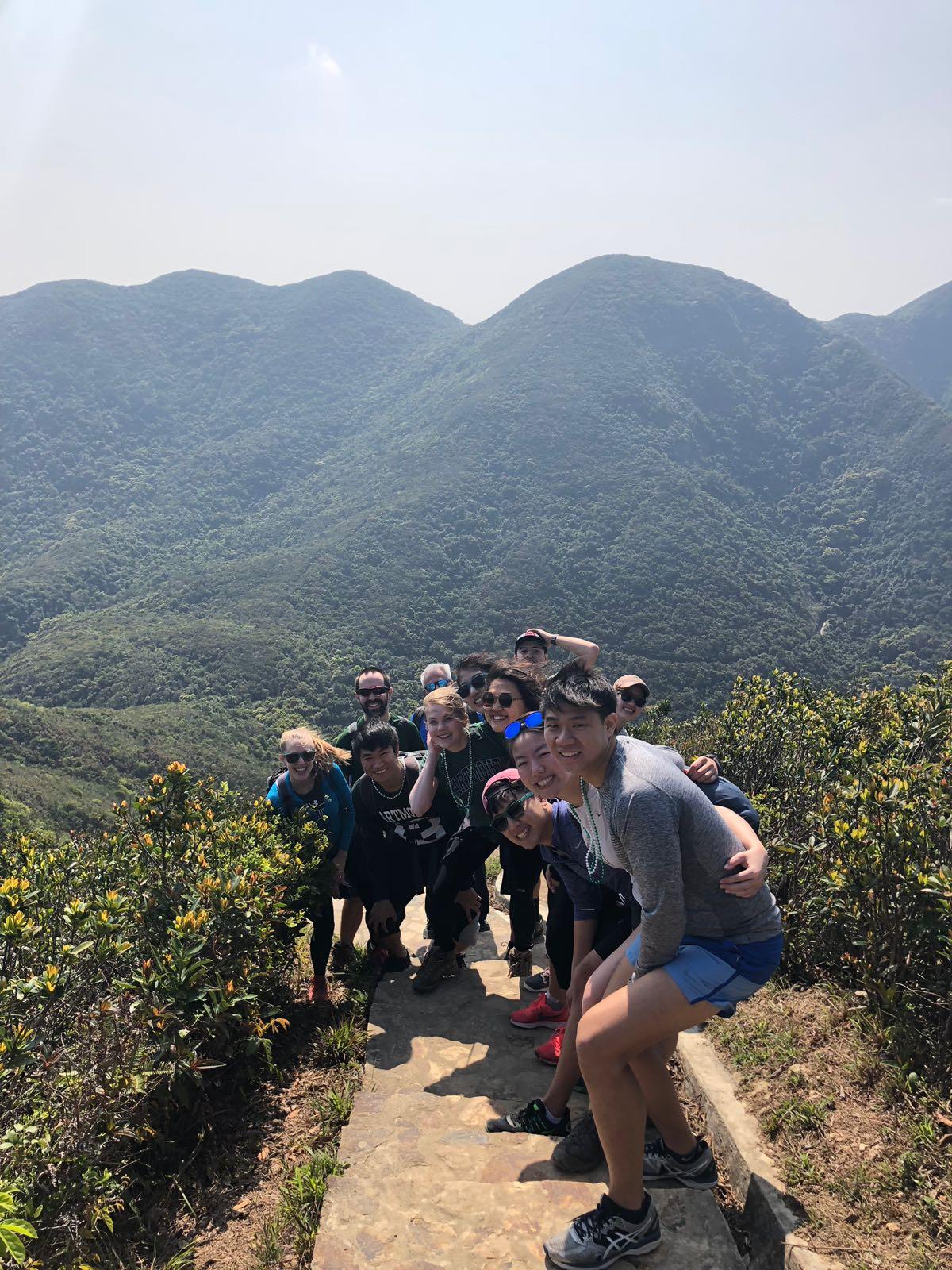 Young alumni took a hike at the Hong Kong Big Green Affair