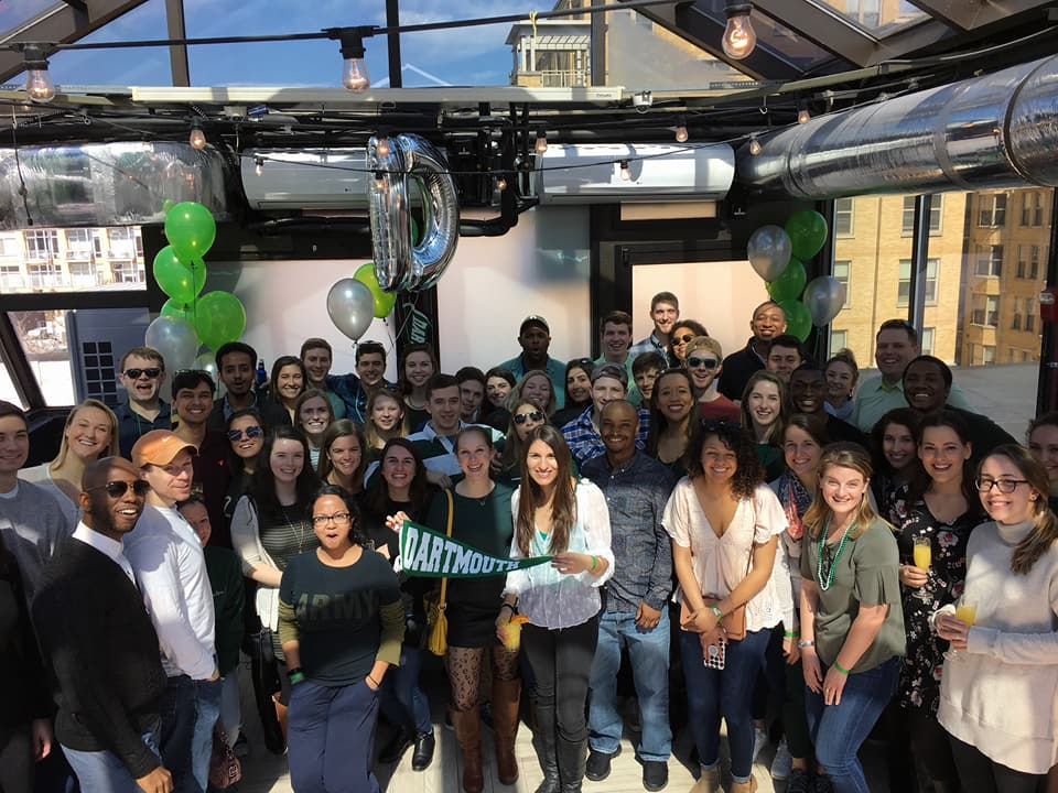 Young alumni celebrate the Big Green Affair in Washington, DC