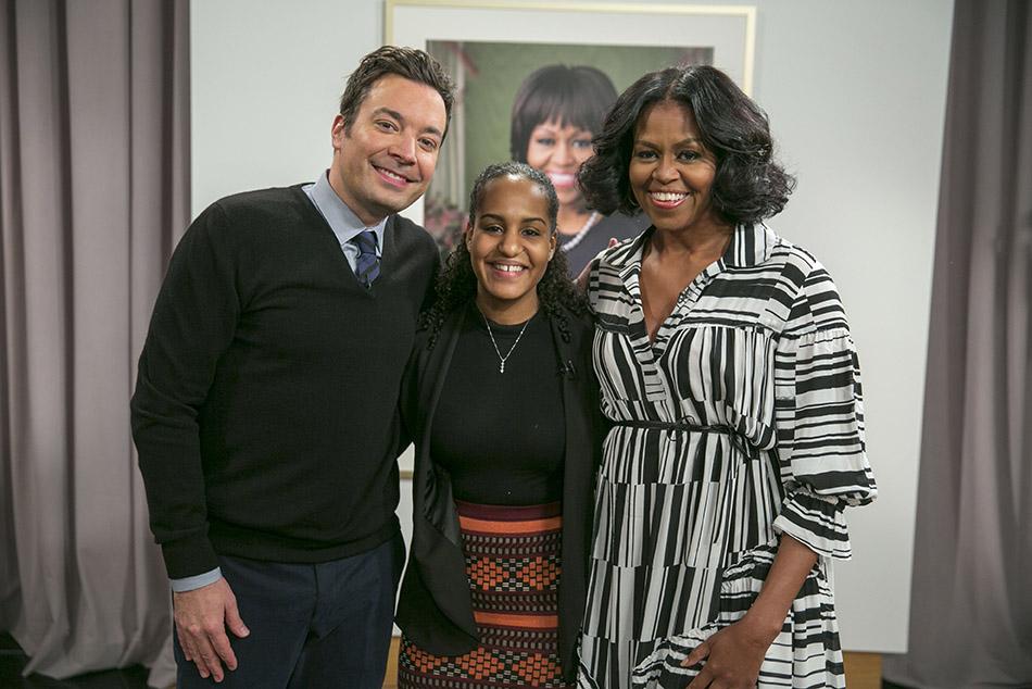 Jana Landon with Michelle Obama and Jimmy Fallon