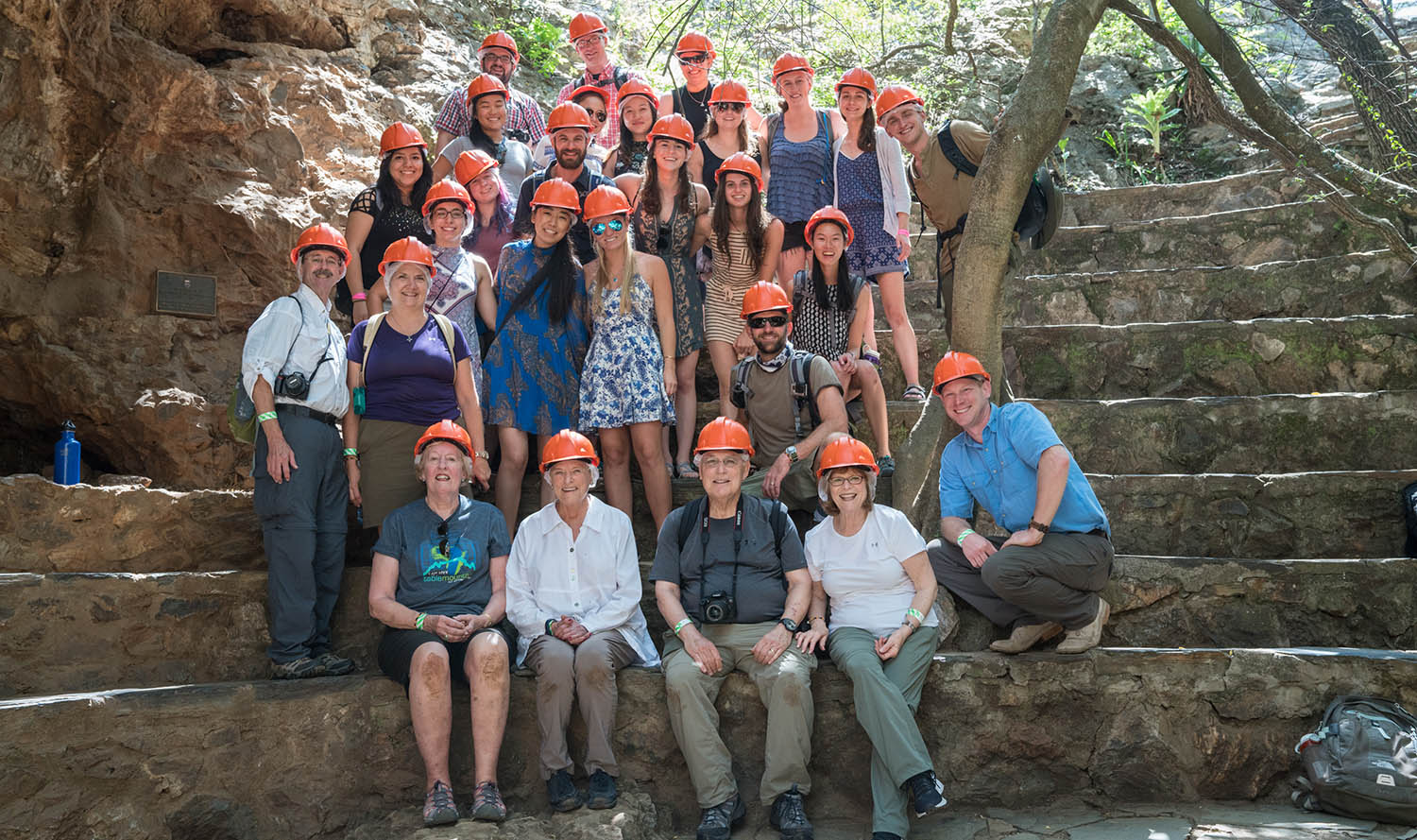 Group who traveled to South Africa