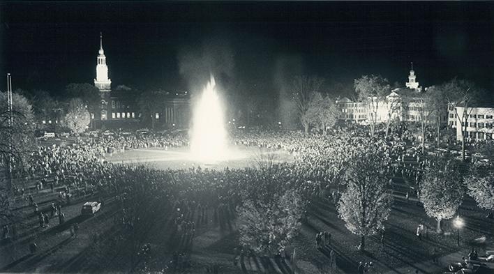 Dartmouth bonfire, 1977