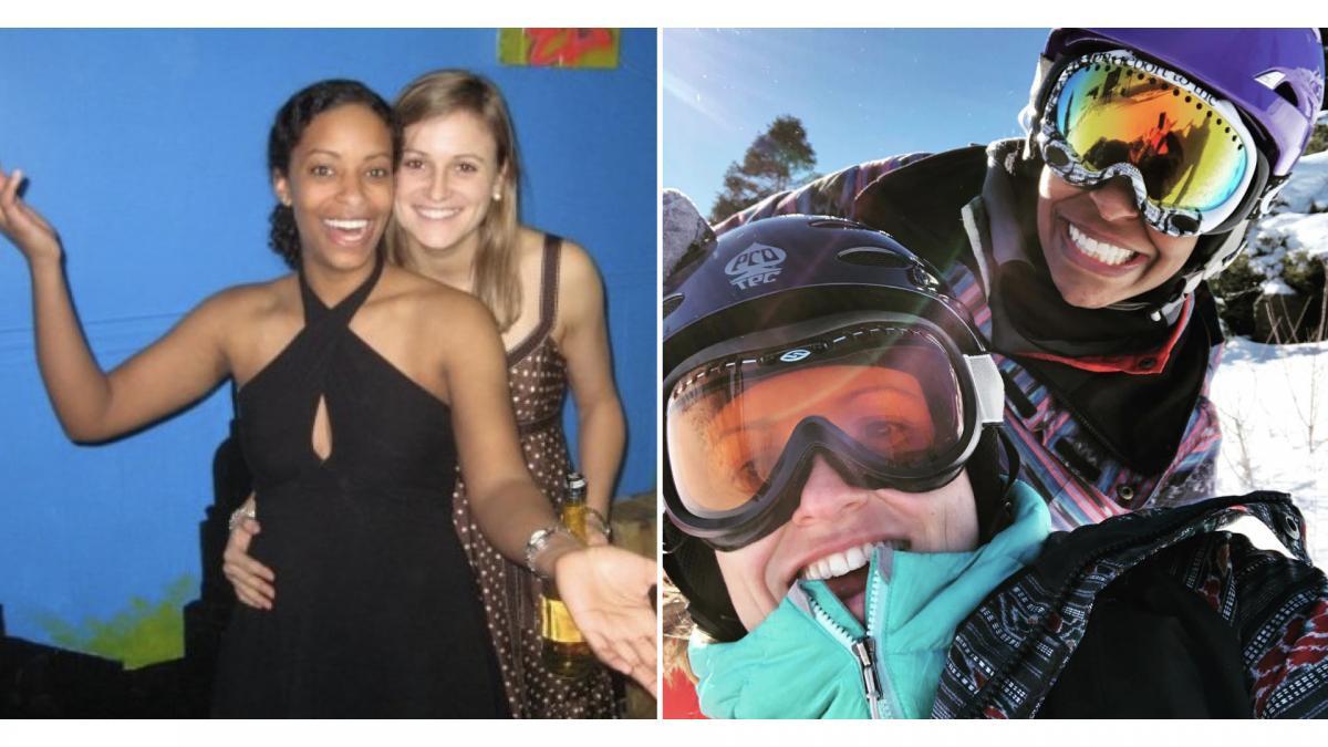 Michelle (Dunn) Martin de Bustamante '09 and Monica Martin de Bustamante '08 Th'09