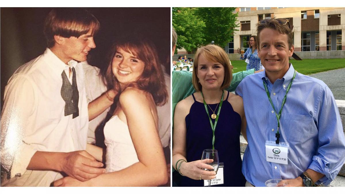Mary Halpin Carter '87 and Christopher Hart Martin Carter '87
