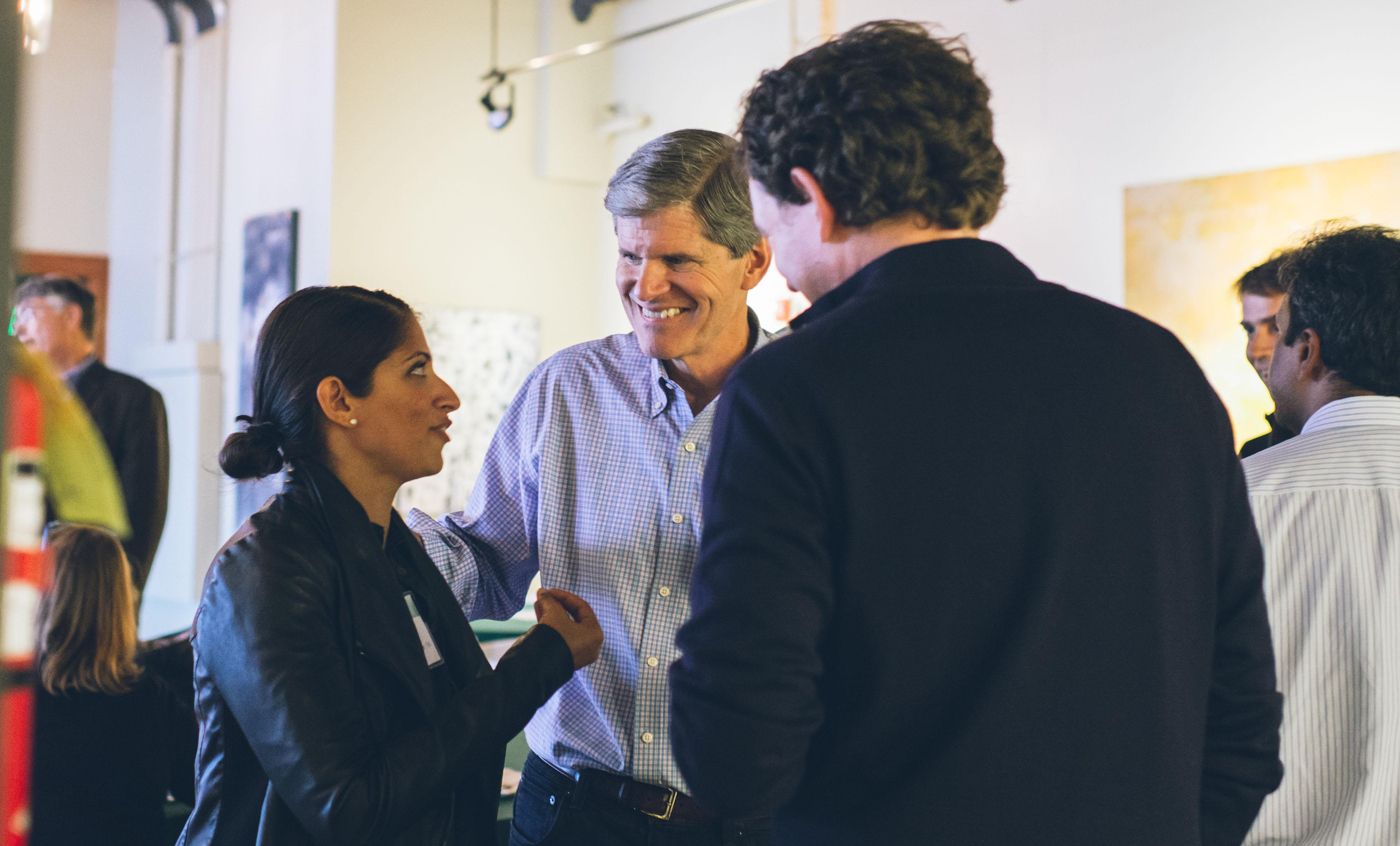 Alumni mingling at the Dartmouth Entrepreneurs Forum