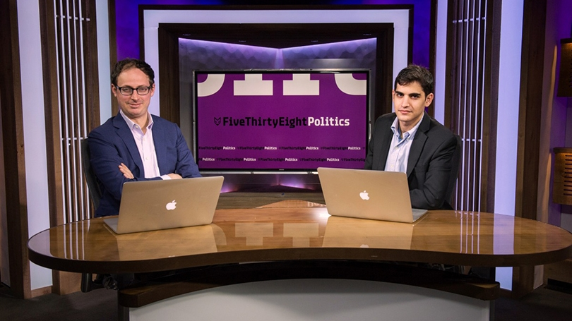 Nate Silver, left, and Harry Enten '11.