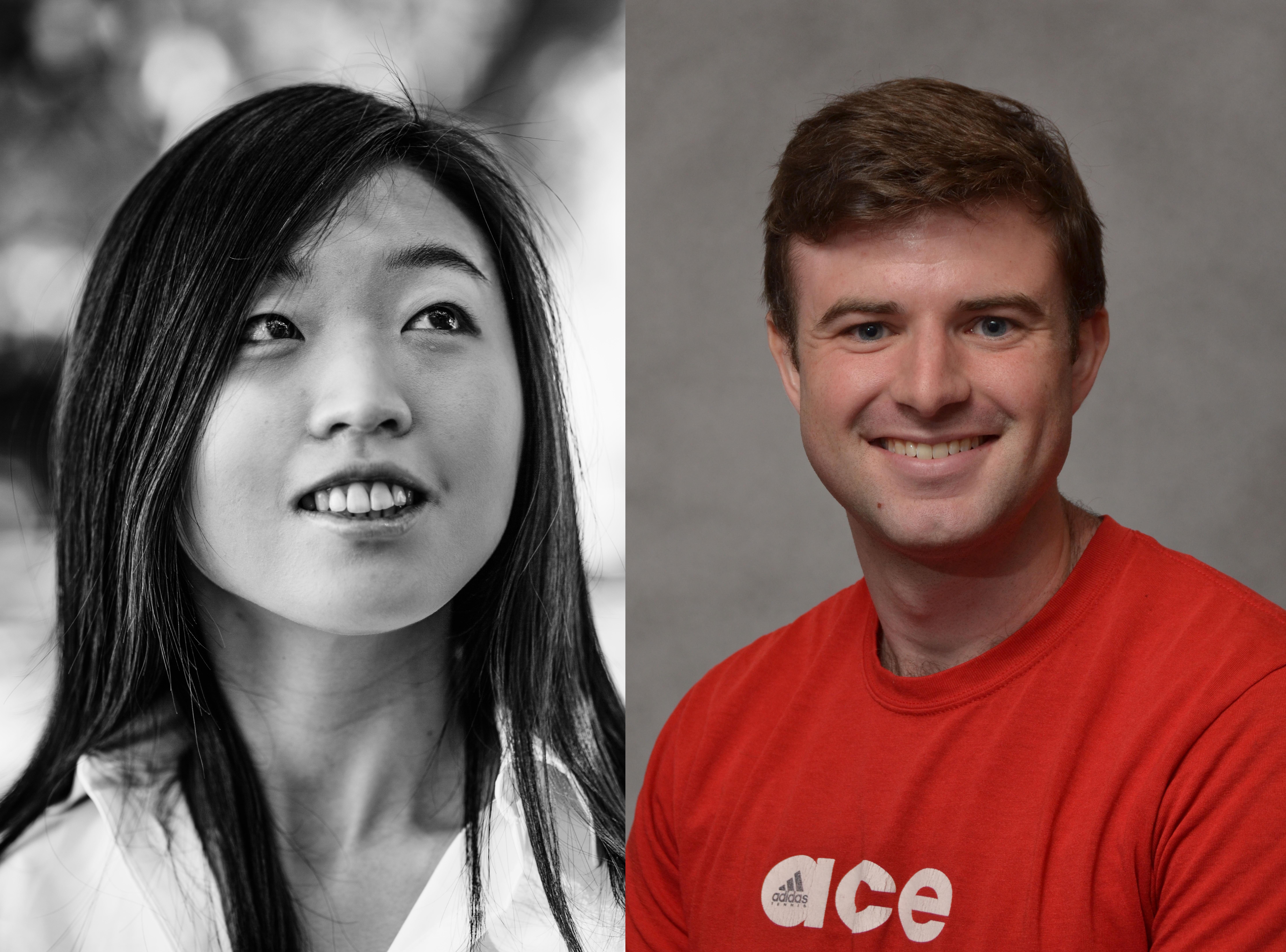 Headshots of Yoo Jung Kim and Erik Faber