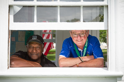 Bill Cahill and Len Branch