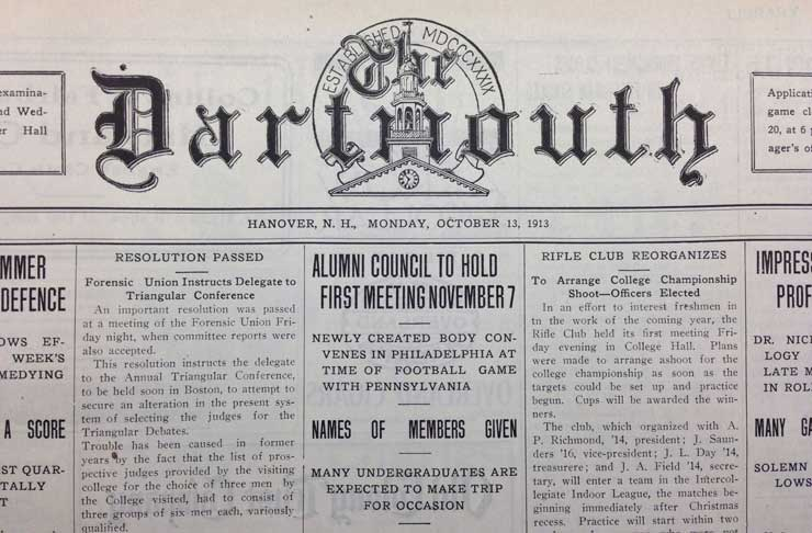 The Dartmouth - Alumni Council announcement
