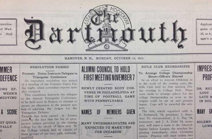 The Dartmouth - Alumni Council announcement