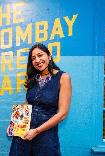 Priya Krishna '13 with her new book (photo by Teddy Wolff)
