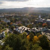 Campus from above during the fall