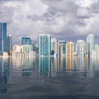 flooded urban landscape