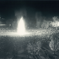 Dartmouth bonfire, 1977