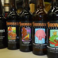 Throwback breweries beer on tap