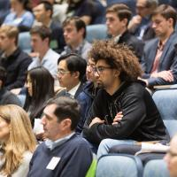 students and guests at future of work symposium in Hanover
