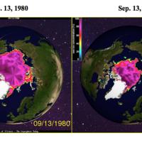 Dramatic loss of Arctic sea ice