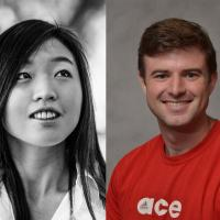 Headshots of Yoo Jung Kim and Erik Faber